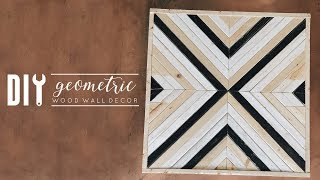 DIY Geometric Wood Wall Decor