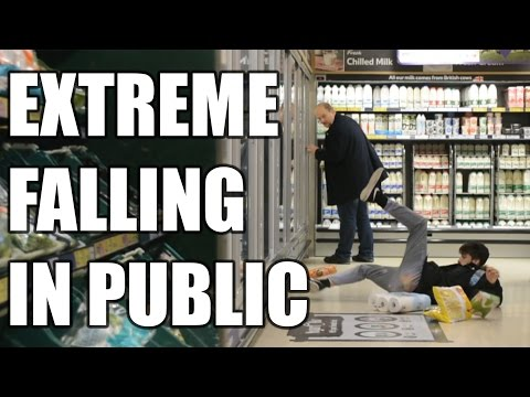 EXTREME FALLING IN PUBLIC PRANK