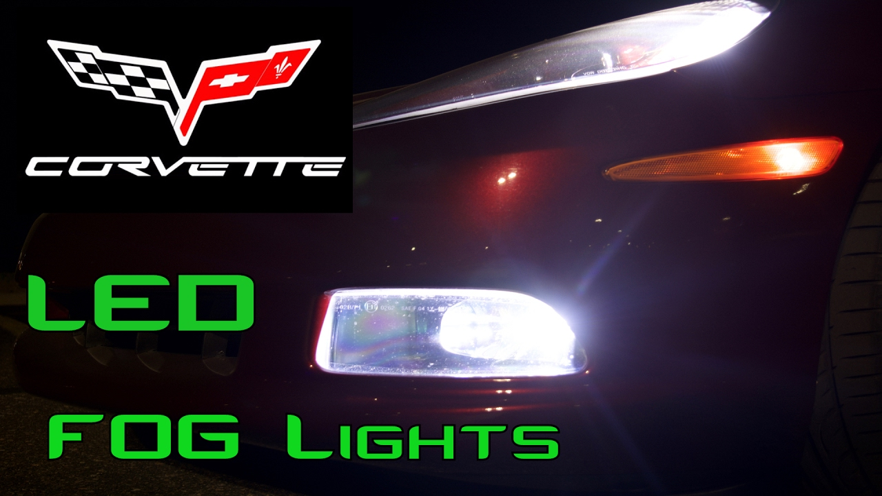 C6 Corvette - LED fog light install - YouTube