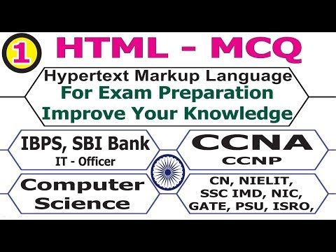 HTML Objective Question And Answer For Any Exam Computer Science, It Officer