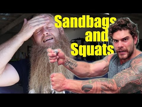 Joey Szatmary Squats 620 lbs / Sandbag Training (review)