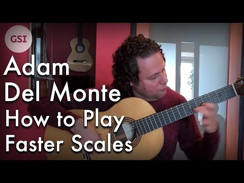 Adam Del Monte - How to Play Faster Scales: Flamenco Guitar at Guitar Salon International