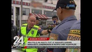 Mga pulis na nagte-text at nakaupo habang naka-duty, sinermunan ni NCRPO Chief Albayalde