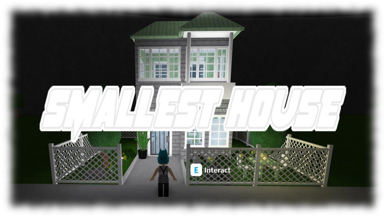 Roblox Smallest House Bloxburg Youtube