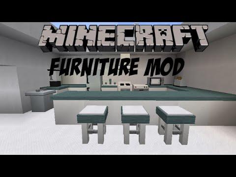 Minecraft 1 furniture mod k che bad wohnzimmer youtube - Minecraft wohnzimmer ...