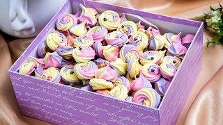 Разноцветное безе на швейцарской меренге. Идеальный десерт и украшение для тортов, пирожных, куличей