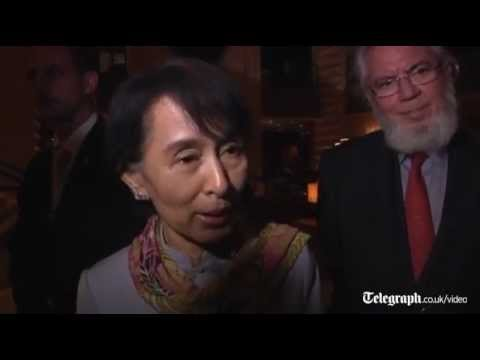 Aung San Suu Kyi touches down in Switzerland for the start of her tour of Europe