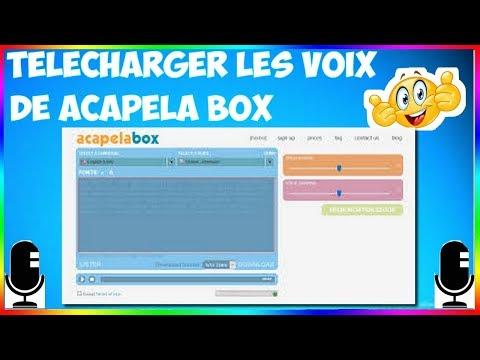 comment télécharger la voix de acapela box 2019