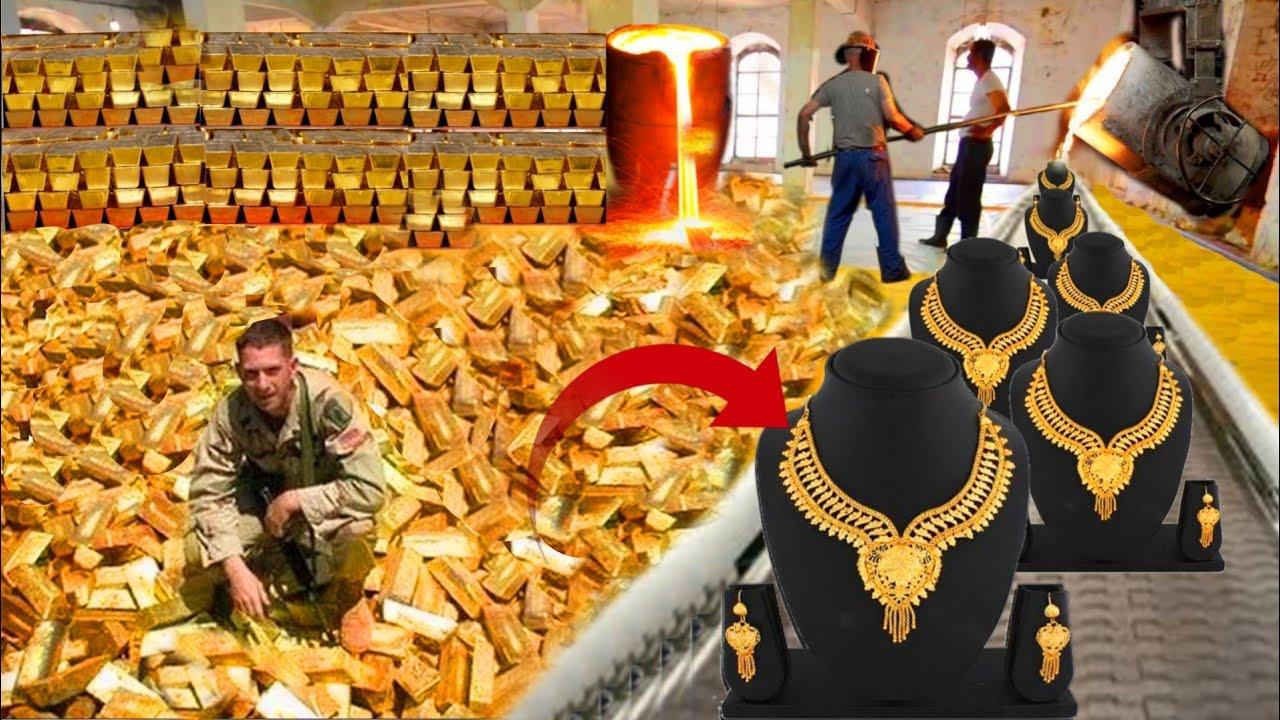 देखिए सोने की फैक्ट्री मे सोने के ज़ेवर व सोने की चीज़ैं कैसे बनती है| Gold Jewellery Making Process