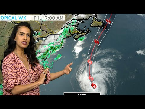 Hurricane Larry is on track to sweep across eastern Newfoundland