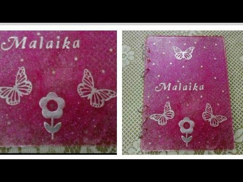 DIY resin Book cover/ epoxy book cover / Resin notebook  #resin #epoxy