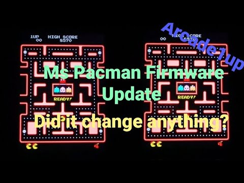 Arcade1up Ms Pacman Firmware Update.  Did it change anything?? from Jester Tester