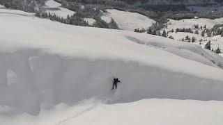 Skier Crashes Into Snow Slope