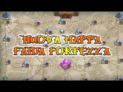 NEW FORTRESS FEUD MAP! - #138 Castle Clash Ita