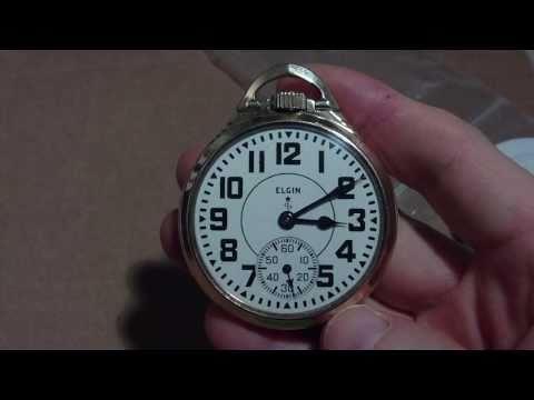 Elgin B.W. Raymond pocket watch, railroad, grade 571.