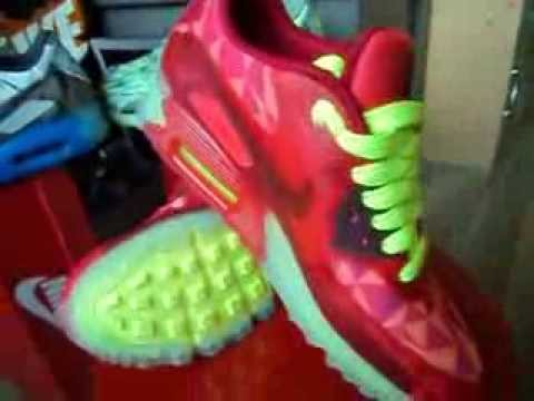 dec2fcd176 Nike Air Max 90 ICE (HYPERFUSE) - 2014 (Collection)(Gym Red/Volt/Red)(ICE  PACK 2014)(Part 50) - YouTube