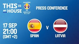 Spain v Latvia - Press Conference - FIBA Basketball World Cup 2019 European Qualifiers