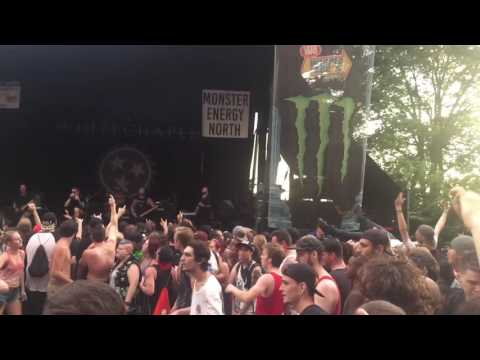 Whitechapel - Possession live 1080p 60FPS Warped Tour 2016