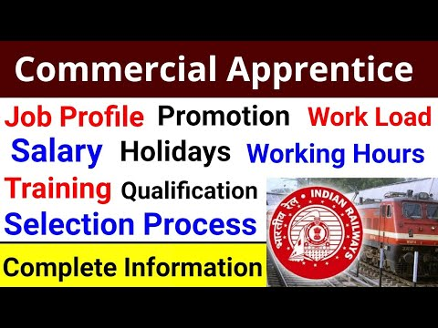 Commercial Apprentice Job Profile,Salary, Working Hours, Holidays,Promotion,Training,Qualification |