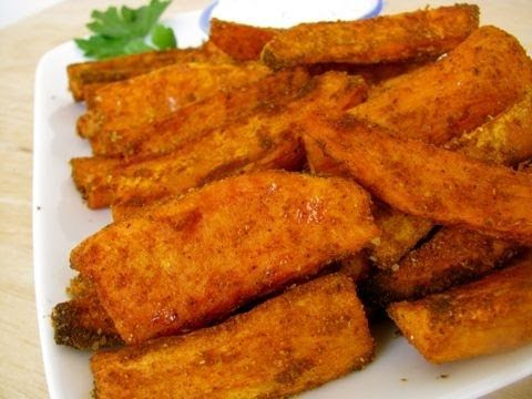 Easy - Baked Sweet Potato Wedges Recipe with Garlic Dipping Sauce - YouTube - Easy - Baked Sweet Potato Wedges Recipe With Garlic Dipping Sauce