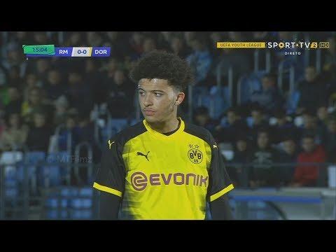 Jadon Sancho vs Real Madrid Away • Youth League 17/18 | HD