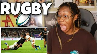 AMERICAN FIRST REACTION TO RUGBY (BEST HITS & STEPS!) | Favour