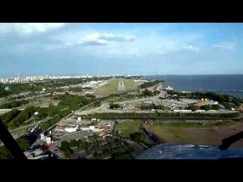 Cruce San Fernando - Aeroparque en King Air 200