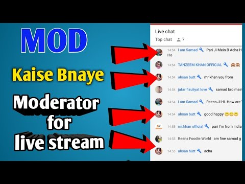 Moderator in YouTube | MOD बनाने का सही तरीका क्या है? | make mod for live session