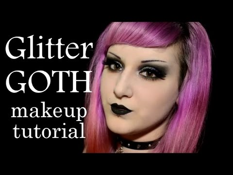 Glitter GOTH Makeup Tutorial - YouTube