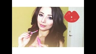 ASMR Binaural Ear to Ear Whisper Lipgloss Try On With Mouth and Kissing Sounds