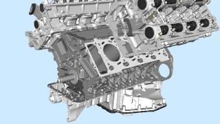 Animation BMW Engine V8 /Moteur BMW V8 with all details