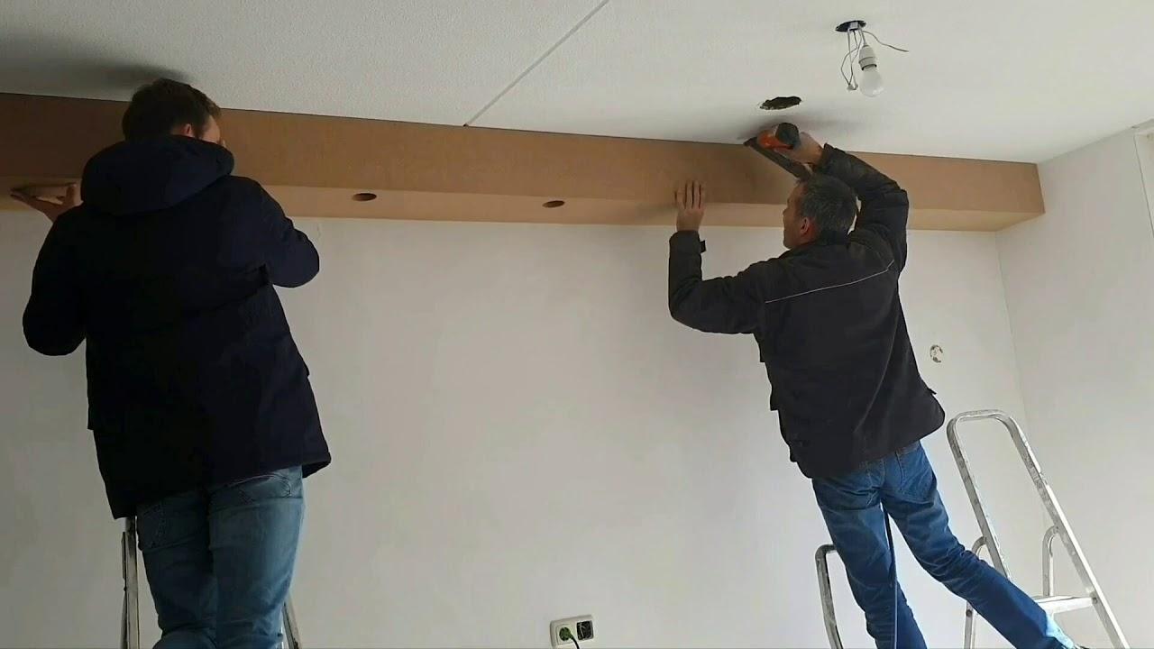 Koof Of Betimmering Aan Het Plafond Bevestigen Attach Cove Or Paneling To The Ceiling Youtube
