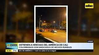 Detienen a hinchas del América de Cali de Colombia en Luque