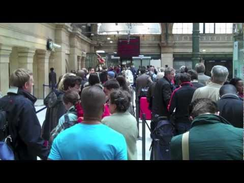 Passport Check Chaos for Eurostar at Gare du Nord, Paris