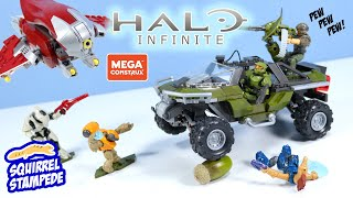Halo Infinite MEGA Construx Warthog Banshee and Mystery Figure Packs!