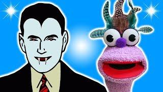 FRUIT VAMPIRE JOKE! - DRACULA JOKES FOR KIDS! Halloween! 100% Child-Appropriate FUNNY! Sock Puppet!
