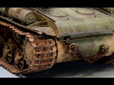 Painting & weathering scale model tank tracks (Russian WWII) HD