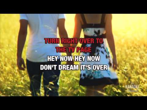 Don't Dream It's Over in the style of Crowded House | Karaoke with Lyrics
