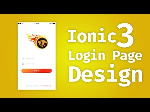 Ionic 3 - Design Login Page