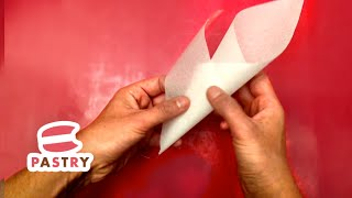 Super Easy Paper Piping Bag for Chocolate Decorations