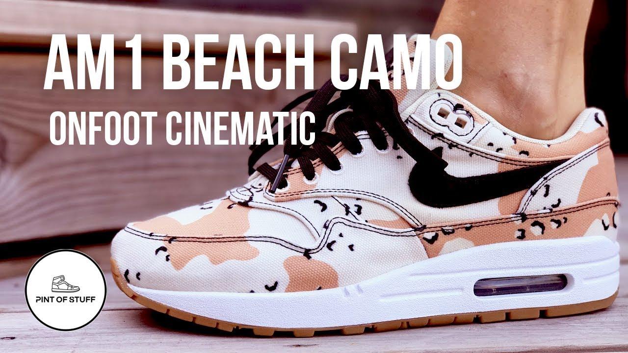 Air Max 1 Beach Camo Sneaker On Foot