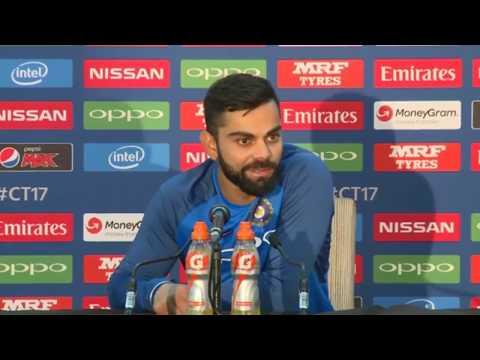 Virat Kohli after winning India vs South Africa ICC champions trophy match - Press conference - 2017