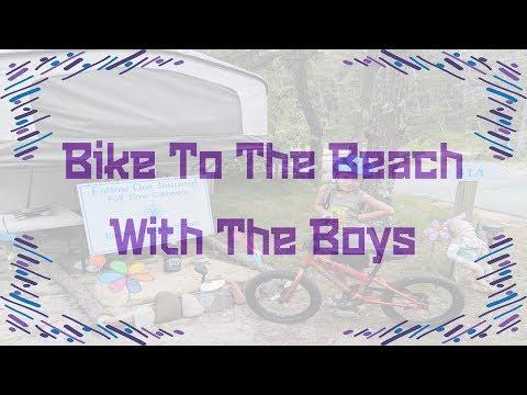 Biking Through The Woods To The Beach In North Truro MA
