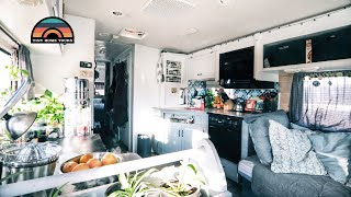 Family Of 4 Renovated Budget Rv Into A Full Time Travel Tiny House On Wheels
