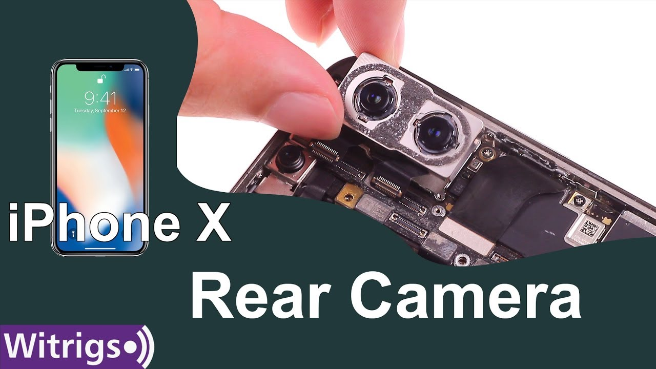 quality design 5e531 56e1f iPhone X Rear Camera Replacement