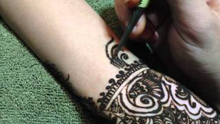 Intricate Indian Traditional Henna Design