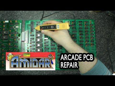 Konami/Stern 1982 Amidar Arcade PCB Repair