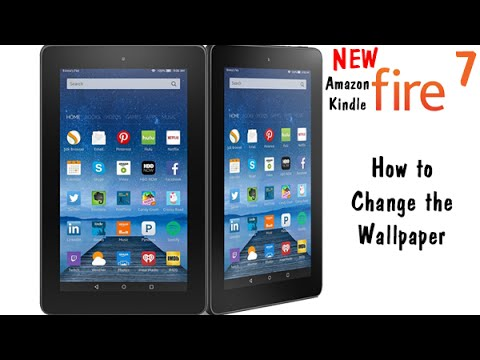 kindle fire lock screen wallpaper  Fire 7 - How to Change the Wallpaper | H2TechVideos - YouTube