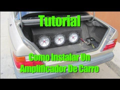 Tutorial como instalar un amplificador de carro youtube for Como instalar un estor plegable