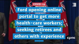 Ford opening online portal to get health-care workers; seeking retirees and others with experience